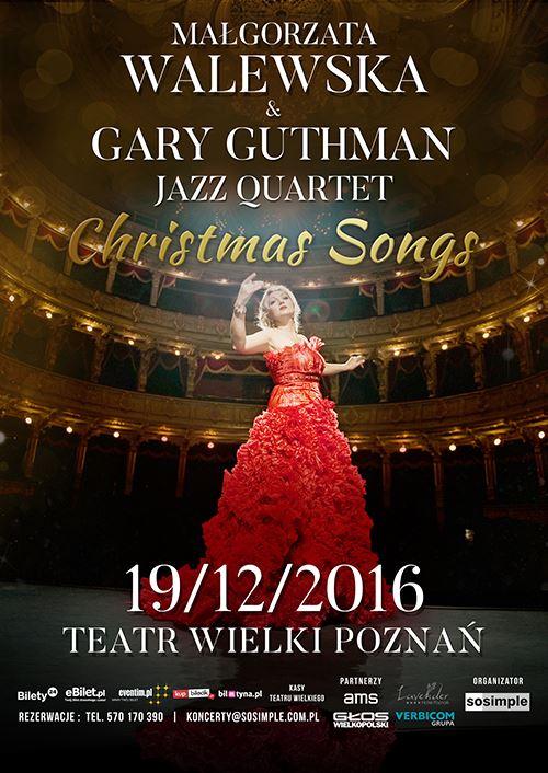 """MAŁGORZATA WALEWSKA & GARY GUTHMAN Jazz QUARTET """"CHRISTMAS SONGS"""""""